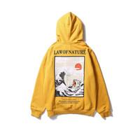 hoodies da cópia do gato venda por atacado-Bordado japonês Engraçado Gato Onda Impresso Hoodies Do Velo Inverno Japão Estilo Hip Hop Casual Camisolas Streetwear