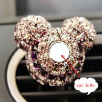 luxus parfums großhandel-Luxus Auto Logo Parfüm Diamant Klimaanlage Outlet Clip Dekoration Auto Lufterfrischer Auto Styling Lady Parfüm 100 Original