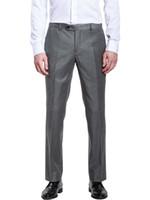 ticari uyuşur toptan satış-Erkek Rahat Yeni Moda Erkek Yüksek Dereceli Slim Fit İş Gri Takım Elbise Ticari Ticari Batı Tarzı Ile Özel Made Pantolon Suits