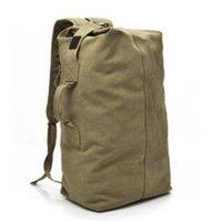 bolso de lona al por mayor-S L 2 tamaño de gran capacidad Vintage lona bidireccional al aire libre de viaje mochila bolsa de lona bolso