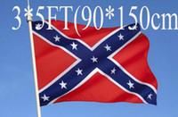 drapeau confédéré x achat en gros de-Drapeau national confédéré imprimé sur les deux côtés du drapeau national de polyester 5 X 3FT drapeau rebelle de la guerre civile confédéré rebelle 10pcs H11r
