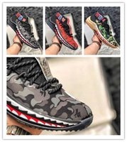 Wholesale shark art for sale - 2018 New Hot Sale Damian Lillard Shark Men Basketball Shoes Dame s Camo Green Red WGM Sports Mens Trainers Zapatos Sneakers