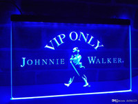 Wholesale neon lights whiskey resale online - LA438b VIP Only Johnnie Walker Whiskey LED Neon Light Sign