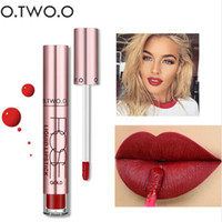 Wholesale best long lasting lip for sale - Group buy O TWO O colors Best Sale Hot Cosmetics Makeup Lip Gloss Long Lasting Waterproof Easy to Wear Matte Lipstick