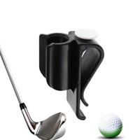 markerclips großhandel-Golf Bag Clip Auf Putter Putting Organizer Club Dauerhafte Kugel Marker Klemmhalter Golf putter clip WS-27