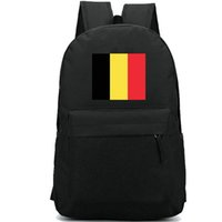 Wholesale flag belgium for sale - Group buy Belgium flag backpack Kingdom country day pack Colorful banner school bag Casual packsack Good rucksack Sport schoolbag Outdoor daypack