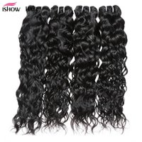 Wholesale wet wavy human hair extensions for sale - Group buy 8A Brazilian Virgin Hair Water Wave Bundles Wet And Wavy Virgin Peruvian Human Hair Weave Brazilian Curly Weave Hair Extensions