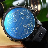 tempo japonês venda por atacado-Novo DZ Relógio De Pulso Dos Homens Grande Mostrador do relógio de pulso militar 4 fuso horário Esporte Relógios dos homens casuais japão movimento de quartzo reloj montre homme
