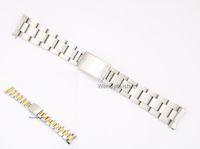 две тональные часы оптовых-CARLYWET 19 20 мм нержавеющая сталь 316L два тона золото серебро смотреть ремешок ремешок Старый Стиль устрица браслет полые изогнутый конец