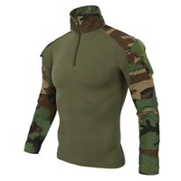 Wholesale red military uniform - Tactics Military Airsoftsport Army Uniform Camouflage Combat Knee elbow protection top Pant Rapid Assault Long Sleeve Shirt suit