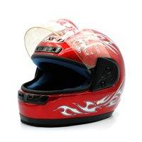 capacete integral preto vermelho venda por atacado-Capacetes de moto quente com lenço rosto cheio abs preto vermelho para homens mulheres capacetes de moto elétrica