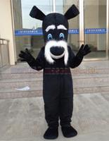 ingrosso vendite di giocattoli adulti-La dimensione adulta di trasporto del costume della mascotte dello Schnauzer, il partito di lusso di carnevale del giocattolo della peluche della mascotte del cane celebra le vendite della fabbrica della mascotte.