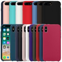 Wholesale candy case silicone online - Official Original Liquid Silicone Candy Rubber Soft Microfiber Cloth Cushion Cover Case For iPhone XS Max XR X Plus S With Retail Box