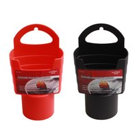 Wholesale Red Eat - 1pc Car French Fries Holder Food Drink Cup Holder Food Grade PP Storage Box Bucket Travel Eat in the car Red   Black