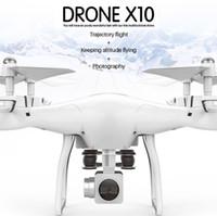 metal drone helikopter toptan satış-Yepyeni X10 S10 dört eksenli hava fotoğrafçılığı İha kontrol helikopter FPV drone UFO rc helikopter rc drone ile kamera