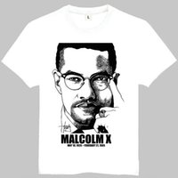 Wholesale leaders clothing - Malcolm x t shirt Cool man short sleeve gown Leader tees Leisure printing clothing Quality cotton Tshirt