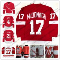 Wholesale ryan suter - NCAA Wisconsin Badgers #17 Ryan McDonagh 4 Ryan Suter 8 Joe Pavelsk 21 Derek Stepan Red White College Hockey Stitched Vintage Jerseys S-3XL