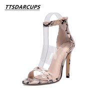 Wholesale modern high heel shoes - 2018 Europe and America serpentine zipper sexy High-heeled shoes modern fancywork style Hollow Open toe Sandals It's 40 yards