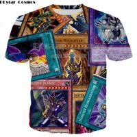 ingrosso yu gi oh all'ingrosso-Commercio all'ingrosso Anime yu gi oh mostro carte Harajuku stile 3D T-Shirt Completa Stampata T-Shirt Manica Corta Plus taglia S-5XL