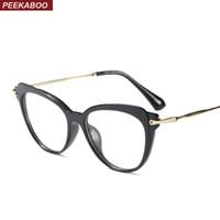fdde94755ad Peekaboo transparent cat eye glasses frames for women clear lens 2018 blue  red black optical eyeglasses frame cat eye