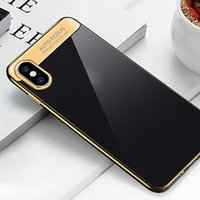 Wholesale case shin for sale – best Auto Focus ultra thin TPU Electroplated shinning combo shockproof case cover for iPhone Plus and iPhone X
