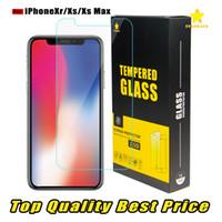 precio protector de pantalla de cristal templado al por mayor-Para Iphone 11 iPhone XR XS Max Protector de pantalla de vidrio templado de mejor calidad y mejor precio 2.5D Se envía en 1 día