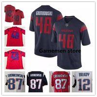 Wholesale gronkowski jersey white - Men's Arizona Wildcats College 48 Rob Gronkowski ncaa football Jersey 11 Julian Edelman 12 Tom Brady Stitching Jerseys free shipping