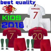 Wholesale Shirt Mario - World Cup 2018 RONALDO home kids SOCCER Jerseys BERNARDO 11 MARIO 17 ANDRE SILVA 9 PEPE Children AWAY JERSEY FOOTBALL SHIRT NO: POrTuGal