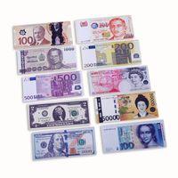 cadeau d'un dollar achat en gros de-Différents Pays Imprimé Créatif Argent Portefeuille Mode Dollar Bourse Porte-Cartes Titulaires Enfants Enfants Cadeau Cadeaux L1014