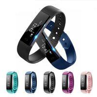 ingrosso braccialetto del polso del gps-ID115 Smart Braccialetti Smart Wristband Monitor Fitness Tracker Smartband Braccialetto Wrist Band per IOS Android Phone