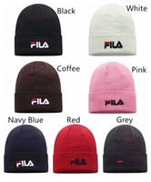 ingrosso ragazze di viaggio-7 colori FILA adulti cappelli ragazze dei ragazzi berretti unisex autunno inverno Sup Beanie casual sport di viaggio a maglia berretti da sci
