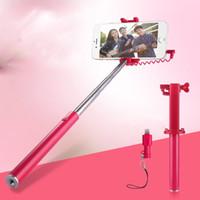 selbststichhalter großhandel-Erweiterbare Handheld Einbeinstativ Selfie Stick Handy Clip Halter Mode Mix Farbe Mini Tragbare Fotografie