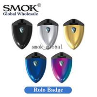 Wholesale Wholesale Metal Badge - 100% Original Smok Rolo Badge Pod System Portable Vape Starter Kit 2ml 250mAh E Cigarette Tiny Kit Authentic Smoktech