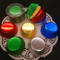 cajas de la magdalena al por mayor-Espesar la seguridad Cake Cup Colorful Round Cupcake Cases Liners Muffin Kitchen Baking Accesorios para la fiesta de bodas 4 3hl BB