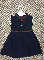 Wholesale lolita sweet - 2018 Ins Summer New Solid Color Cotton Fashion Design Girls Style Children Princess Skirt Sweet Dress
