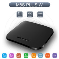 Wholesale android pc smart tv box for sale - Amlogic S905W Android TV Box Supports Stalker MAG25X GB GB Quad Core Smart Mini PC G Wifi H Media Player M8S Plus W Newest