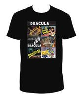 colección de ropa al por mayor-DRACULA COLLECTION BLACK CREW NECK SHORT SLEEVE CAMISETA Short Sleeves New Fashion Camiseta Hombre Ropa Movie Shirt