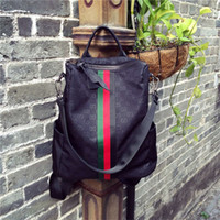 omuzlar okul çantaları toptan satış-Moda Tasarımcısı Sırt Çantası Kadın Kız Okul Çantaları Kadın Çift Omuz Çantası Seyahat Çantası Kadın Çanta Rahat Açık Sırt Çantaları