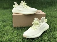 Wholesale quality ice cream - 2018 New 350 V2 Butter Ice Yellow Cream Top Quality Beluga 2.0 Zebra White Cream Bred Fahions Sneakers Kanye West Running Shoes