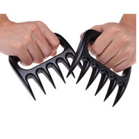 Wholesale coated gloves wholesale - Grizzly Bear Paws Meat Claws Handler Fork Tongs Pull Shred Pork BBQ Barbecue Tools BBQ Grilling Accessories With Retail Box HH7-904