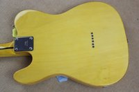 telecaster guitar bodies 2018 - Free shipping wholesale High Quality F tele Ameican Art signature telecaster yellow 6 strings Electric guitar
