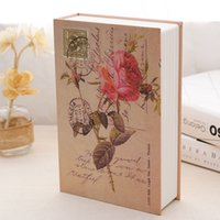 Wholesale book dictionary - 2017 hot retro Design Storage Safe money Box Simulation Dictionary Book storage box gift Privacy boxs Large cipher key