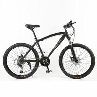 horquilla de disco al por mayor-Bicicleta de montaña de 26 pulgadas de alta calidad, bicicleta MTB de marco grande 26 * 18, freno de disco doble 21/27 velocidad, horquilla de suspensión con llave
