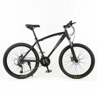 suspension berg mtb fahrrad großhandel-Hohe Qualität 26 Zoll Mountainbike, 26 * 18 Große Rahmen MTB Fahrrad, 21/27 Geschwindigkeit Doppelscheibenbremse, Abschließbare Federgabel