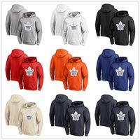 ingrosso acero rosso foglia logo-Toronto da uomo, foglie d'acero, fanatici, con marchio, frassino, bianco, rosso, arancio, ricamo, principale, logo, pullover, cappuccio, manica lunga, esterno, usura