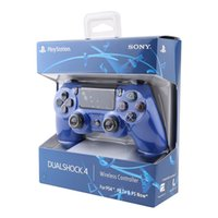 Wholesale wireless bluetooth gamepad controller wholesale - PS4 Bluetooth Game Controller Gamepad SHOCK4 Playstation High quality with retail box free DHL shipping in stock
