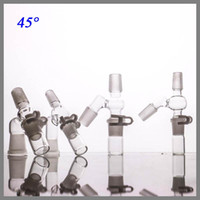 Wholesale female parts - Glass catcher Manufacturer 14mm Angled Female Male Adapter Complete re Set for oil three parts for this set smoking accessories