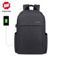 Wholesale laptop computing online - 2018 Tigernu Anti thief USB charging quot laptop Compute backpack for women male Backpacks school Bag for Men Mochila back pack