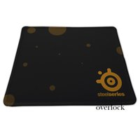 Wholesale Computer Desk Mats - New 250*300*2mm Size Steelseries Gaming Mouse Pad Overlock Black Rubber Non-slip Mousemat PC Computer Desk Speed Mice Play Mat