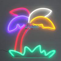 ingrosso segni di visualizzazione aziendale-Insegne al neon di affari su ordinazione Handcraft Palm Tree Cool illuminato al neon Registrati per Home Beer Bar Pub Recreation Game Room Window Display